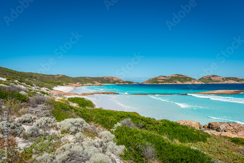 Rocks on the beach, Lucky Bay, Esperance, Western Australia Poster