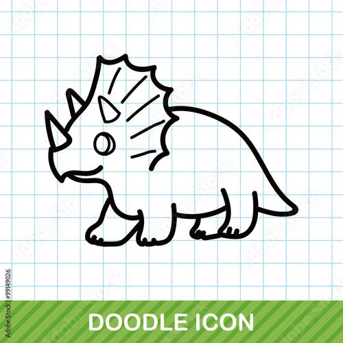 Photo  dinosaur doodle