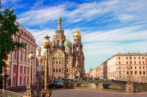 Fotografering  Church of the Saviour on Spilled Blood, St. Petersburg, Russia