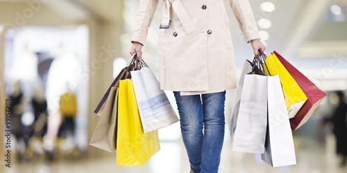 Fotografía  woman on a shopping spree
