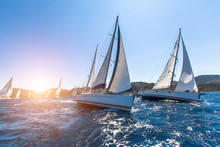 Luxury Yachts At Sailing Regat...
