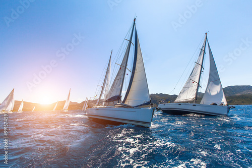 Fotografia, Obraz Luxury yachts at Sailing regatta