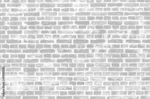 Garden Poster Brick wall Black and white grunge brick background