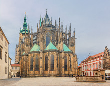 Saint Vitus Cathedral In Prague
