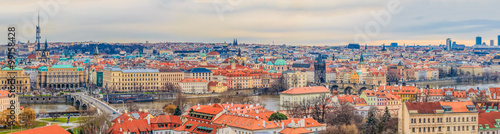 Photo Stands Eastern Europe Traditional red roofs in old town of Prague