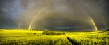 Fototapeta Tęcza - podwójna tęcza po przejściu burzy