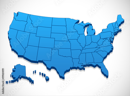 Photo  United States of America Map