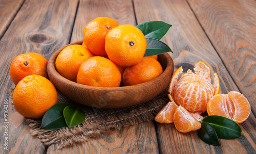 Juicy orange tangerines