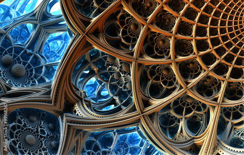 abstrakcyjne-tlo-fantastyczne-struktury-3d