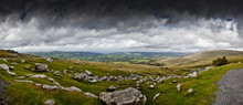 Views From Brecon Beacons National Park, Wales UK, Looking North.