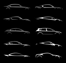 Supercar And Regular Car Vehic...
