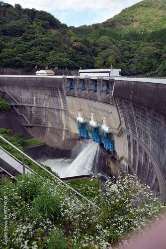 Deurstickers Dam 天瀬ダム
