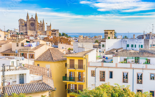 Fotografie, Obraz  Ansicht Palma Mallorca Altstadt Kathedrale