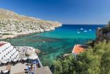 Fototapeta Do akwarium - Zatoka na Majorce - hotele i jachty