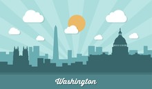 Washington Skyline - Flat Desi...