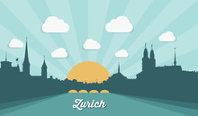 Zurich Skyline, Switzerland - ...