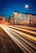 Car Lights Near Dancing House,...