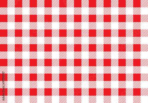 Obraz na plátně Seamless picnic pattern