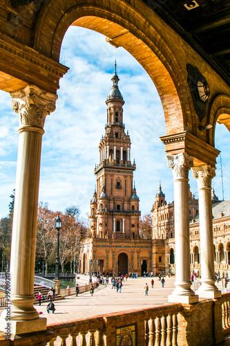 Fototapeta premium Plaza de España w Sewilli