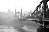 Bridge in the fog. Budapest, Hungary. - 99209802