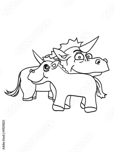 Tuinposter Doe het zelf couple love male female love love unicorn comic cartoon