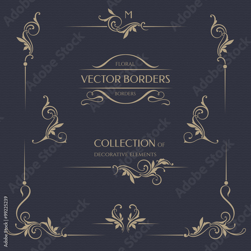 Vector Borders Corners Template Signage Labels Stickers Cards