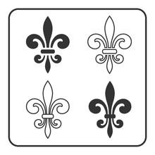 Fleur De Lis Symbol Set. Fleur...