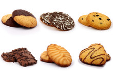 Selection Of Biscuits On A White Background