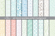 Set Nature Seamless Patterns.pattern Swatches Included For Illustrator User, Pattern Swatches Included In File, For Your Convenient Use.