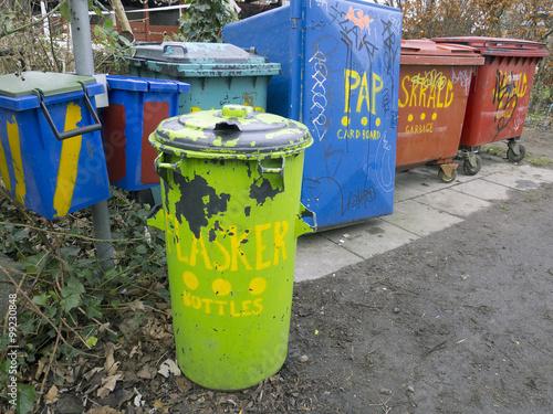 Photo  COPENHAGEN, DENMARK - DECEMBER 30, 2011: Graffiti in Christiania (Freetown Chris