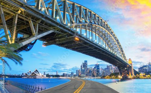 Asphalt Road to Sydney. Holiday and travel concept © jovannig