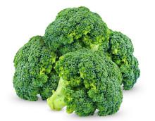Ripe Broccoli Isolated On White Background