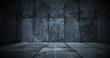 canvas print picture - Dark Metal Room Background