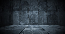Dark Metal Room Background