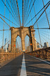 Network of suspension cables Brooklyn Bridge