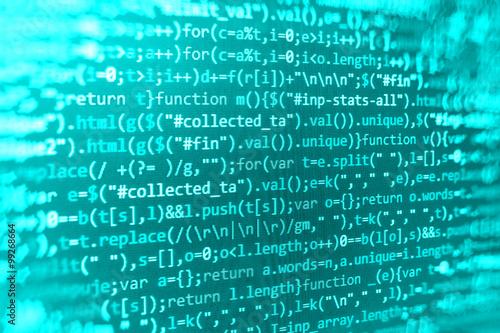 Computer source code programmer script developer  Modern