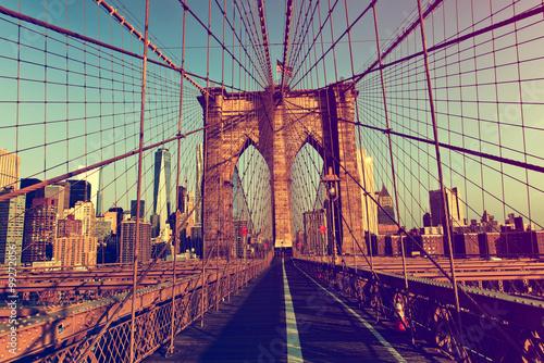 Fotobehang Brooklyn Bridge New York City from Brooklyn Bridge