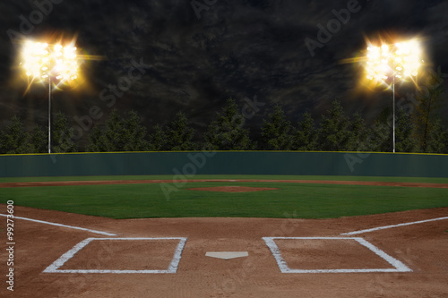 Baseball Stadium Wallpaper Mural