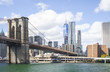 View of Manhattan and Brooklyn bridge
