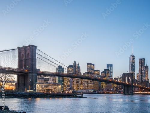 Photo Stands New York Sunset in Manhattan