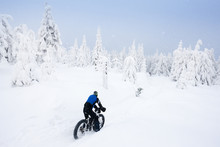 Biker In Winter, Orlicke Mount...