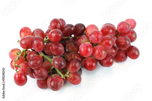 Fotografia, Obraz  fresh red grape on white background