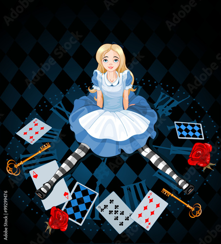 Sitting Alice Wallpaper Mural