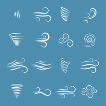 Wind Icons Vector