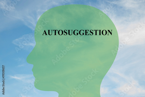 Autosuggestion concept Canvas Print