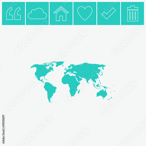 World map vector icon buy this stock vector and explore similar world map vector icon gumiabroncs Images