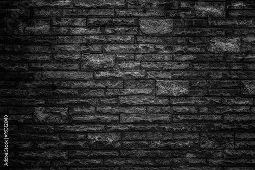 Poster Baksteen muur Dark brick abstract backgrounds