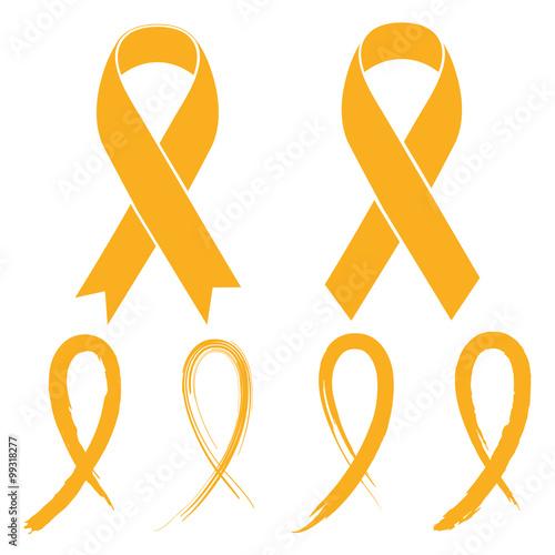 Fotografering Gold ribbon - childhood cancer