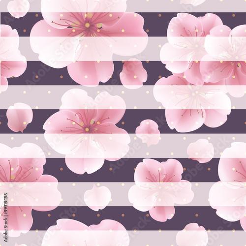 rozowi-sakura-kwiaty-z-platkami-na-pasiastym-tle-wzor-z-letnich-kwiatow