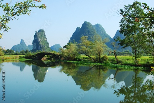Stickers pour porte Guilin Karst landscape of Guilin,China